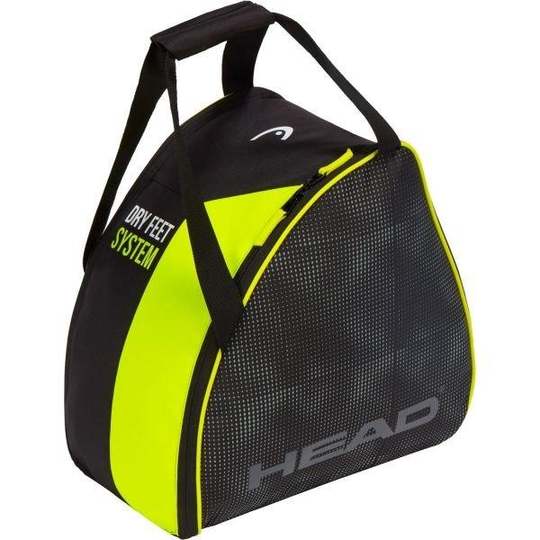 Černo-žlutá taška na lyžařské boty pro 1 pár Head