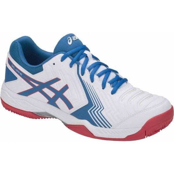 Bílo-modrá pánská tenisová obuv Asics