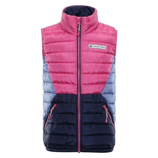 Růžová dětská zimní vesta Alpine Pro