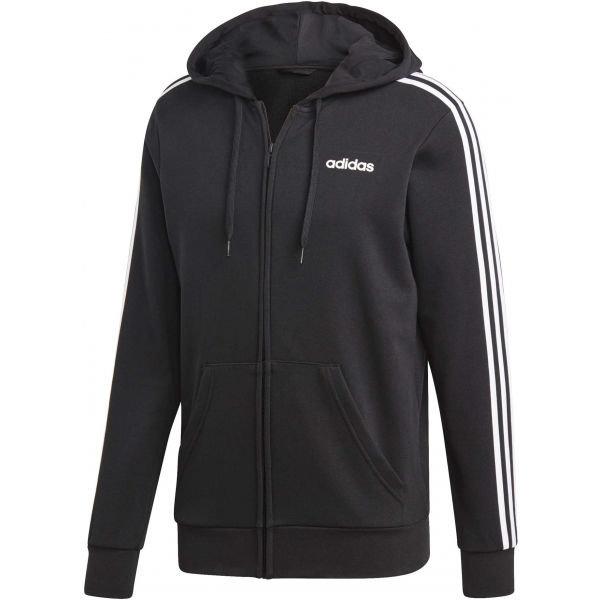 Černá pánská mikina s kapucí Adidas - velikost XL