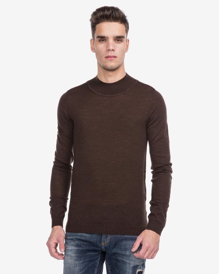 Hnědý pánský svetr Antony Morato - velikost XXL