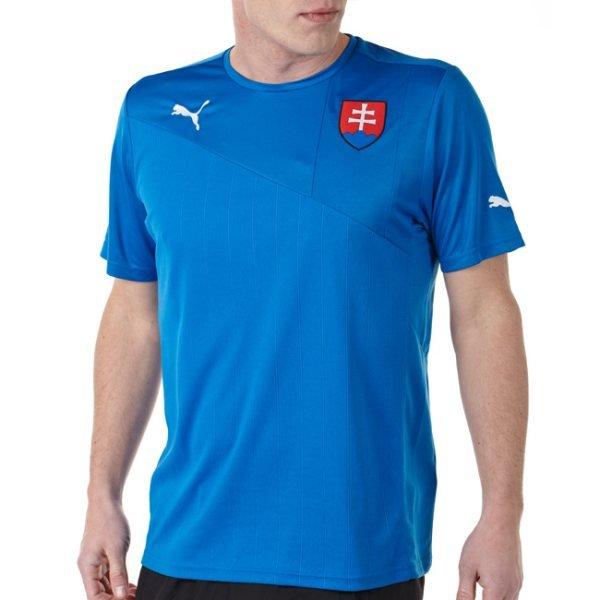 """Modrý fotbalový dres """"Slovenská reprezentace"""", Puma - velikost M"""