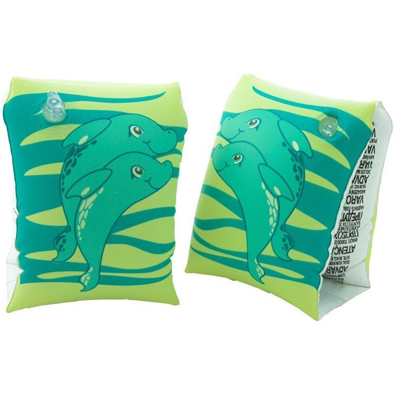 Zelené dětské nafukovací plavecké rukávky DOLPHIN, Aqua-Speed