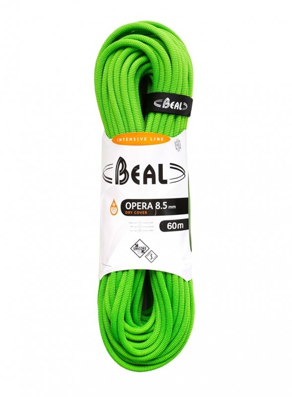 Lano - BEAL Opera unicore 8,5mm DRY COVER 60m (VÝPRODEJ) (zelená) - Beal