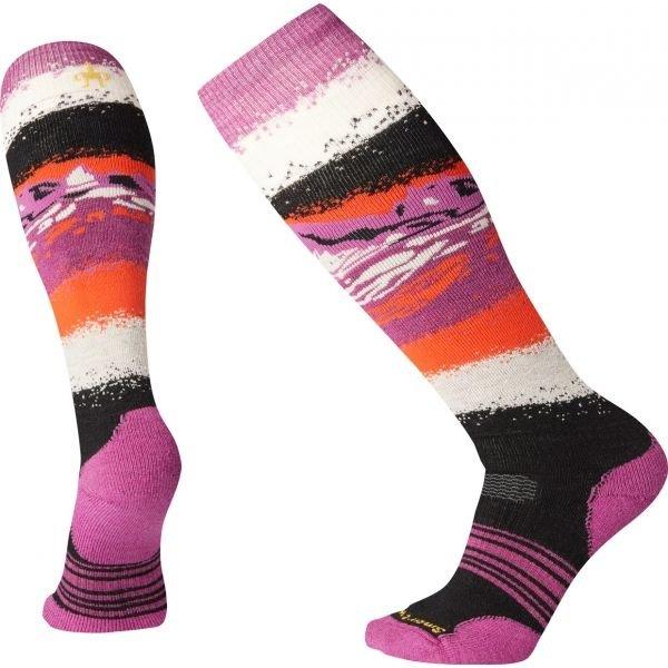 Růžové dámské lyžařské ponožky SmartWool - velikost L