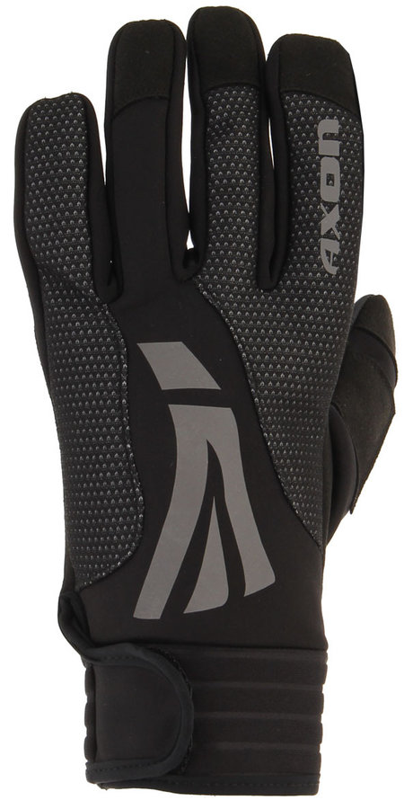 Černé zimní dámské běžecké rukavice Axon