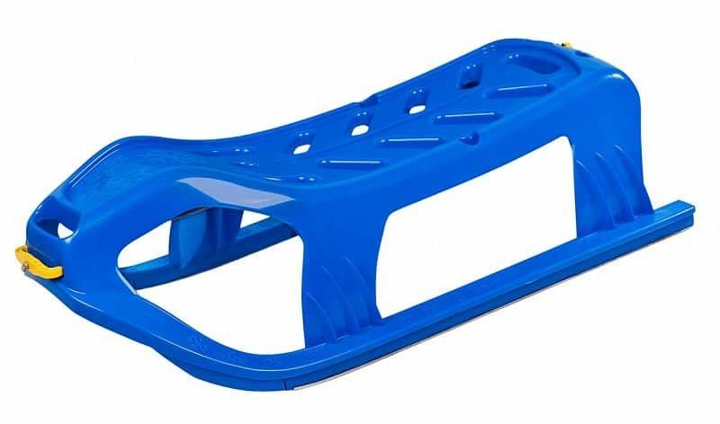 Modré plastové dětské sáňky Sulov