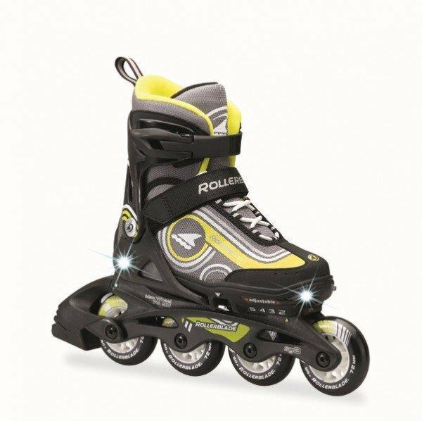Černo-žluté dětské kolečkové brusle Rollerblade - velikost 28-32 EU