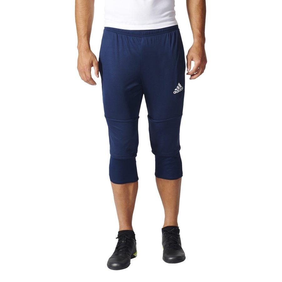 Modré pánské fotbalové kalhoty Adidas - velikost S