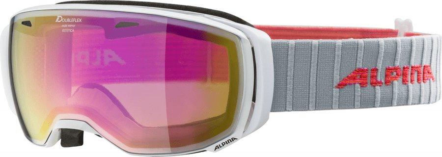 Bílé dámské lyžařské brýle Alpina Sports