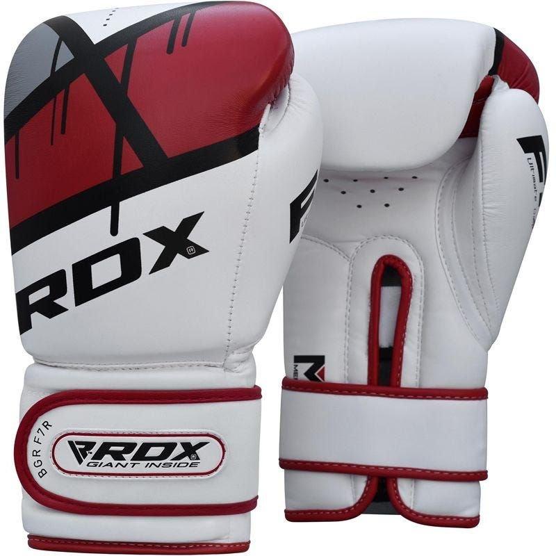 Bílo-červené boxerské rukavice RDX - velikost 12 oz