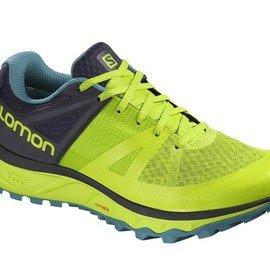 Žluté voděodolné pánské trekové boty - obuv Salomon