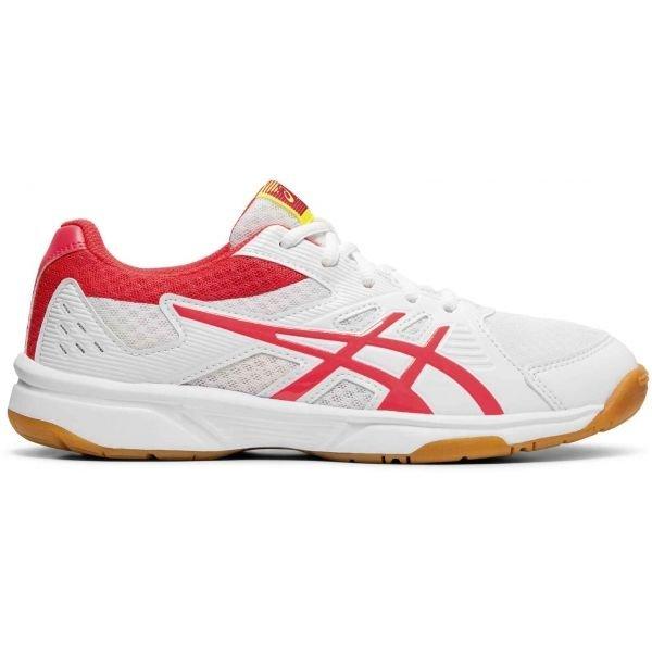 Bílo-červené dámské boty na volejbal Asics
