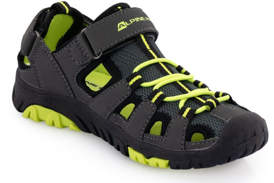 Černé dětské sandály Alpine Pro