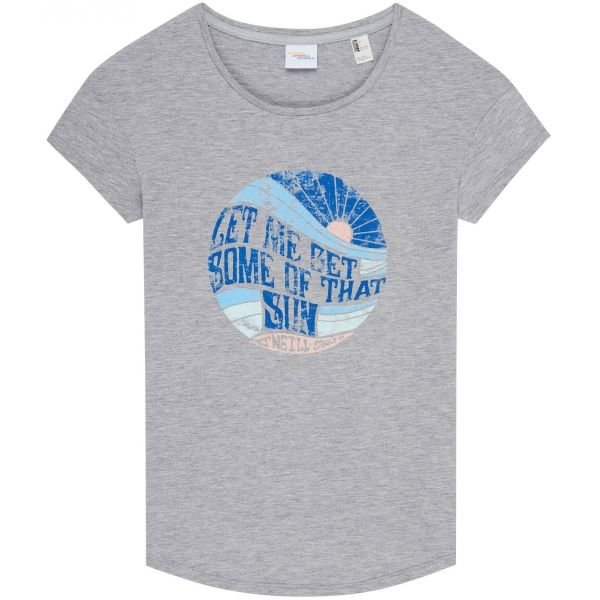 Šedé dámské tričko s krátkým rukávem O'Neill - velikost XS