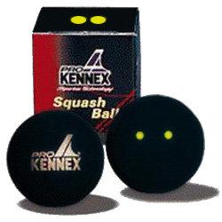 """Černý míček na squash """"dvojitá žlutá tečka"""" ProKennex - 1 ks"""