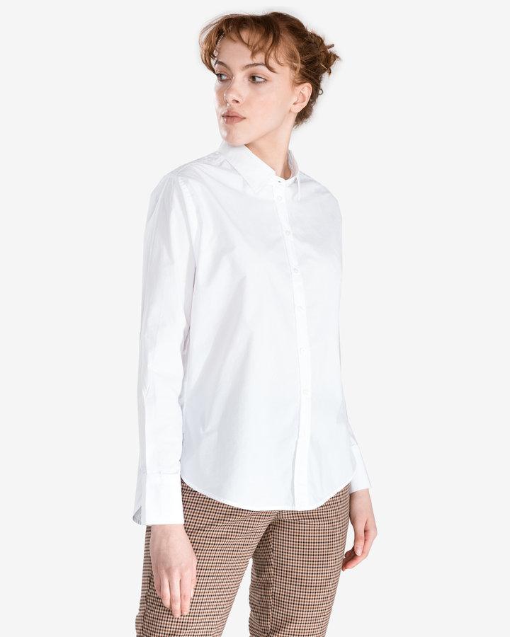 Bílá dámská košile s dlouhým rukávem Pepe Jeans - velikost S