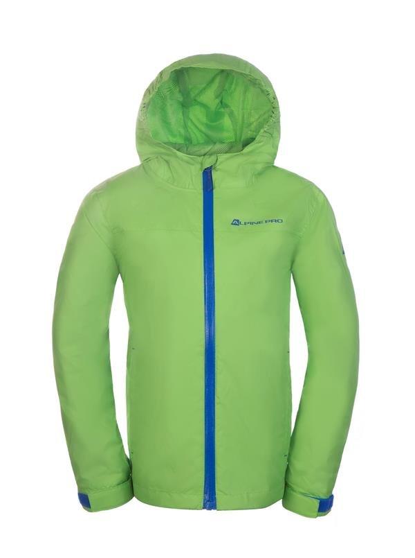 Zelená dětská zimní bunda s kapucí Alpine Pro