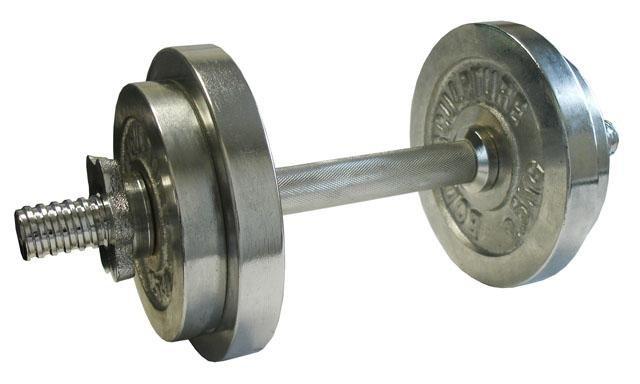 Jednoruční činka - ACRA Nakládací činka jednoruční, chromovaná 10kg