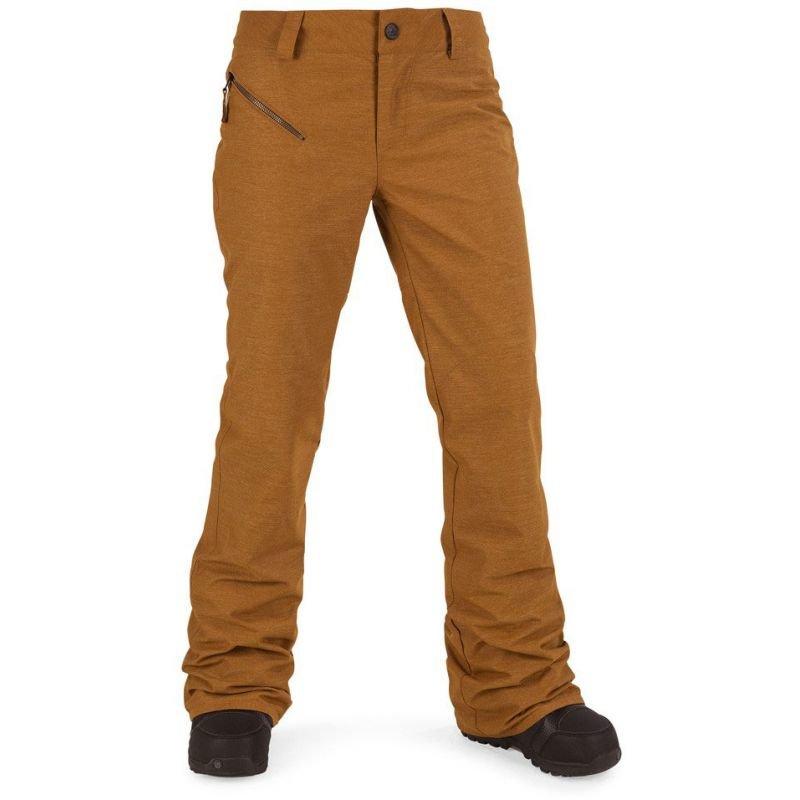 Hnědé dámské snowboardové kalhoty Volcom