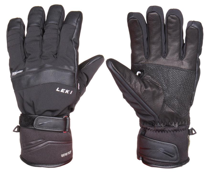 Černé lyžařské rukavice Leki