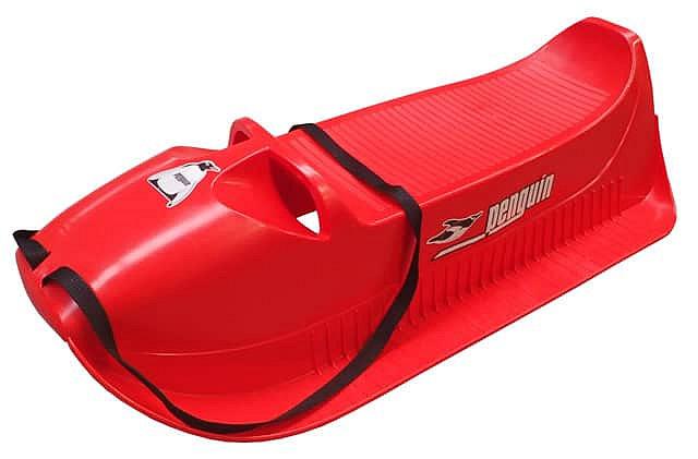 Červené plastové dětské sáňky Acra