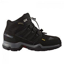 Černé voděodolné chlapecké nebo dívčí trekové boty TERREX MID GTX, Adidas