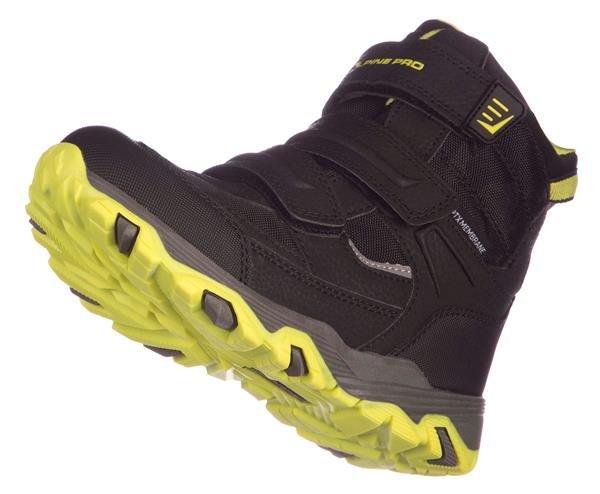 Černo-zelené dětské zimní boty Alpine Pro - velikost 30 EU