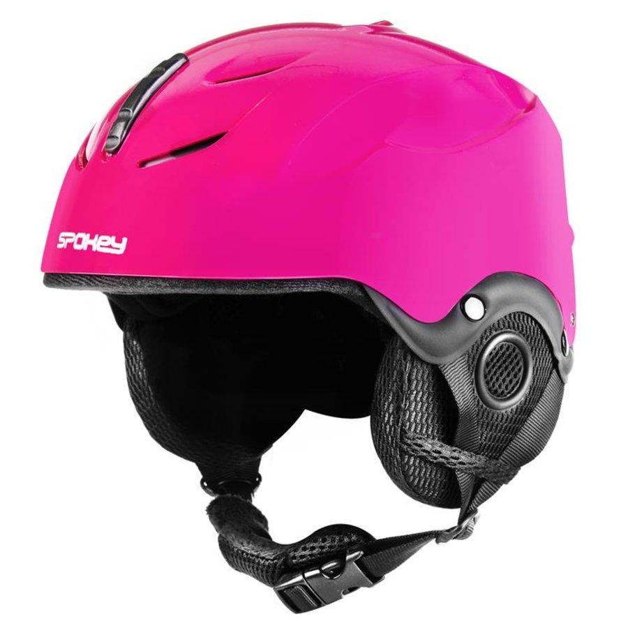 Růžová lyžařská helma Spokey