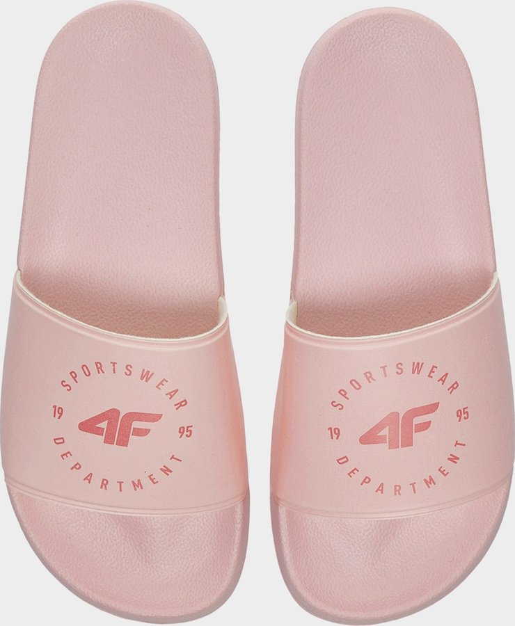 Růžové dámské pantofle 4F