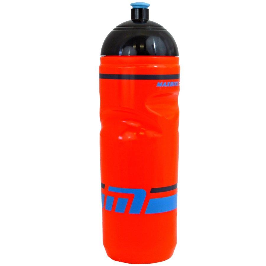 Oranžová cyklistická láhev na pití Maxbike - objem 0,8 l