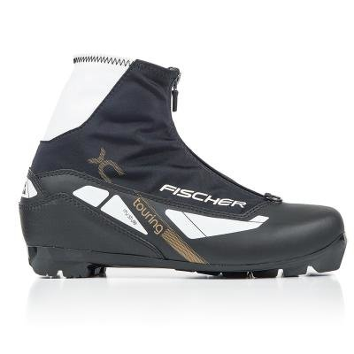 Bílo-černé boty na běžky Fischer