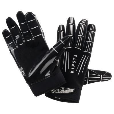 Černé ragbyové rukavice Kipsta