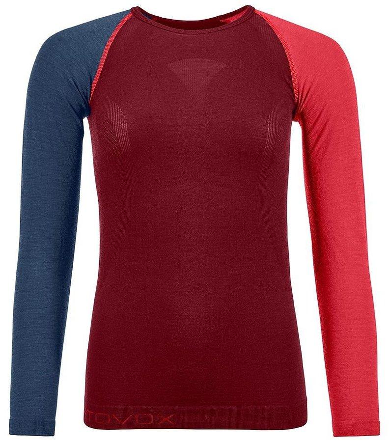 Červeno-modré dámské termo tričko s dlouhým rukávem Ortovox