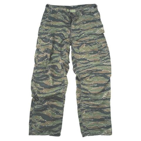 Kalhoty - Kalhoty VINTAGE VIETNAM ERA TIGER STRIPE CAMO