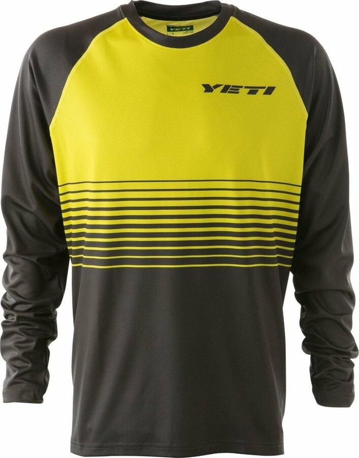 Černo-žlutý pánský cyklistický dres YETI - velikost M