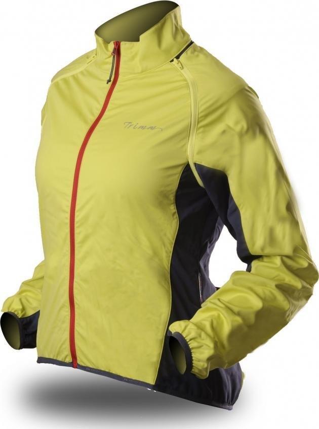 Žlutá dámská cyklistická bunda Trimm