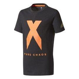 Černé dětské chlapecké nebo dívčí tričko Adidas - velikost 128