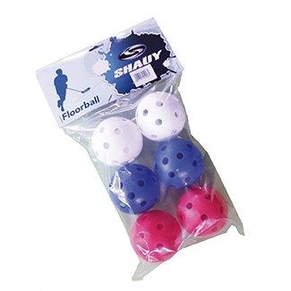 Florbalový míček - Florbalové míčky Spartan 6 kusů