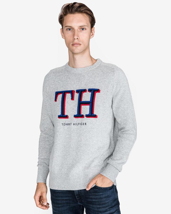 Šedý pánský svetr Tommy Hilfiger