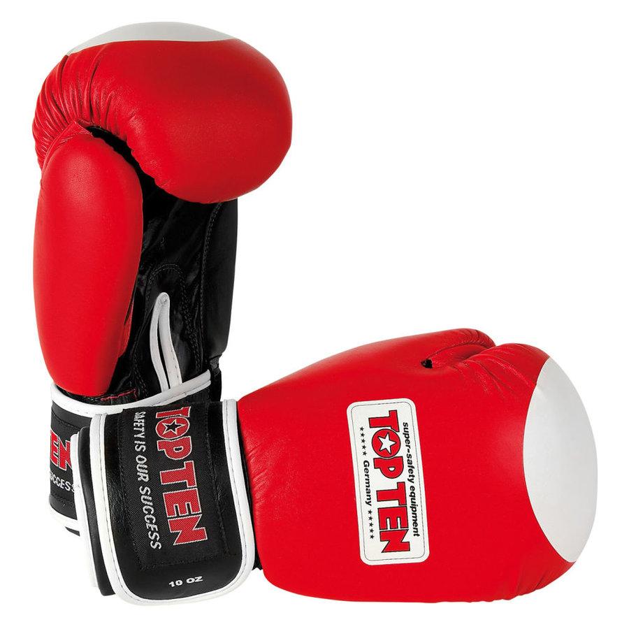 Červené boxerské rukavice Top Ten - velikost 10 oz