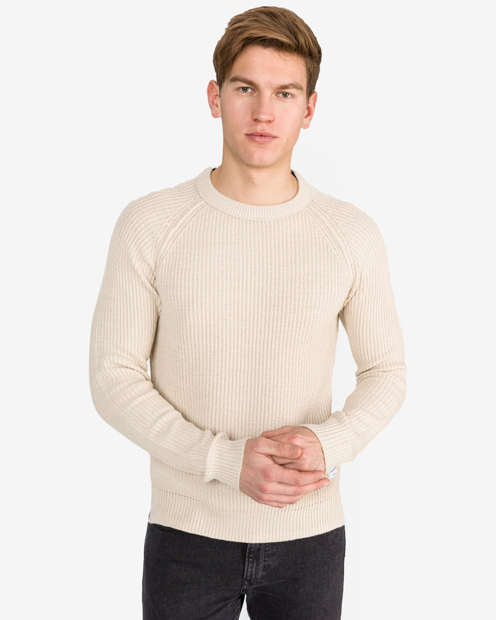 Béžový pánský svetr Jack & Jones - velikost S
