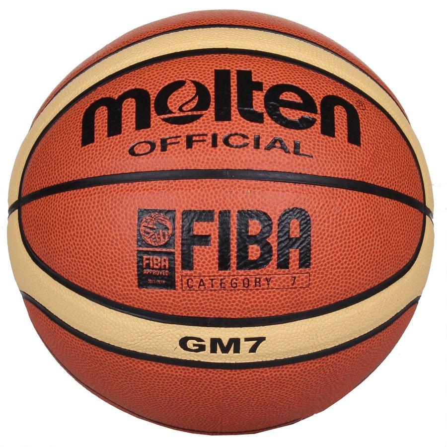 Oranžový basketbalový míč BGM7, Molten - velikost 7