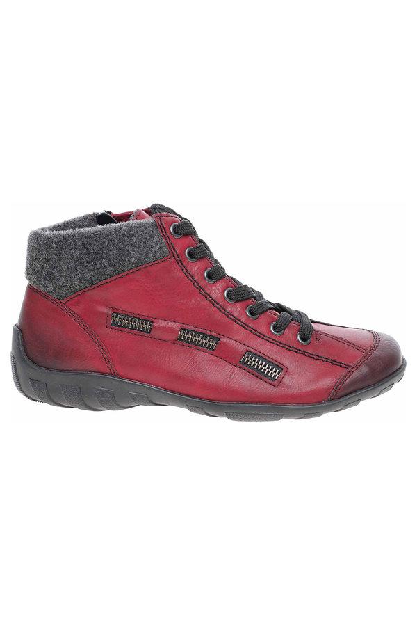 Rieker Dámská kotníková obuv L6543-35 rot kombi velikost 41