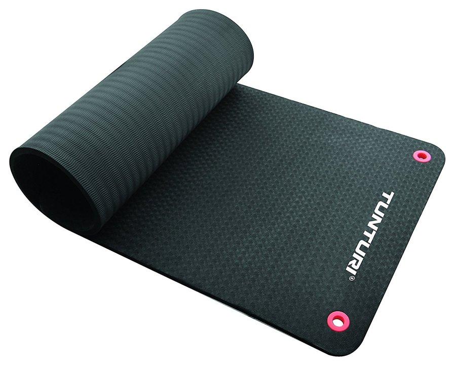 Černá podložka na cvičení Tunturi - tloušťka 1,5 cm