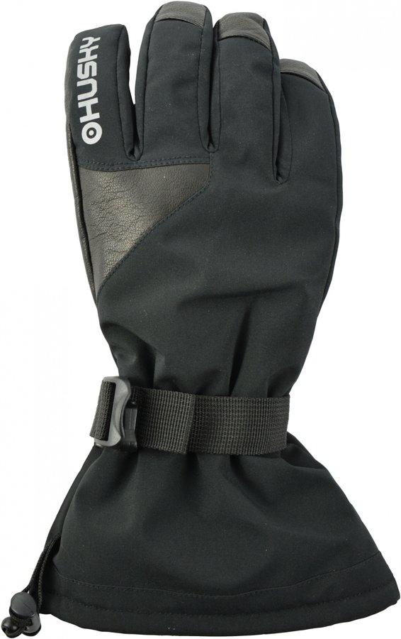 Černé dámské lyžařské rukavice Husky - velikost M