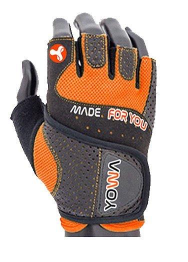 Oranžové pánské fitness rukavice YOWA