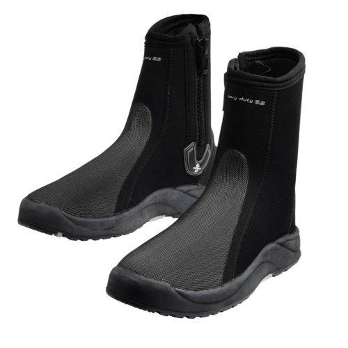 Černo-šedé vysoké neoprenové boty Heavy Duty, Scubapro