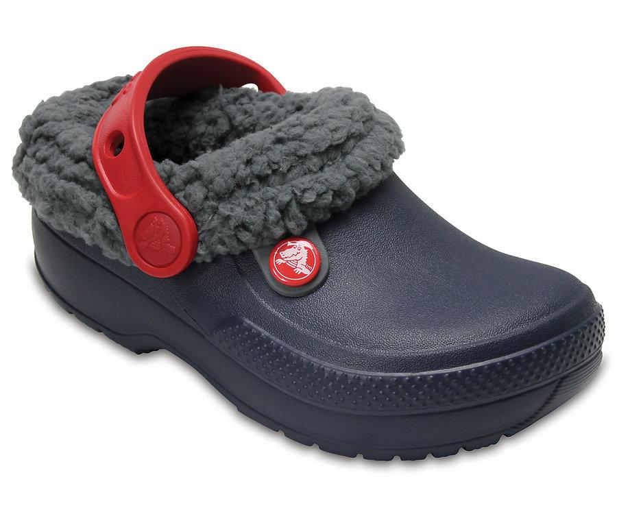 Modré dětské pantofle Crocs