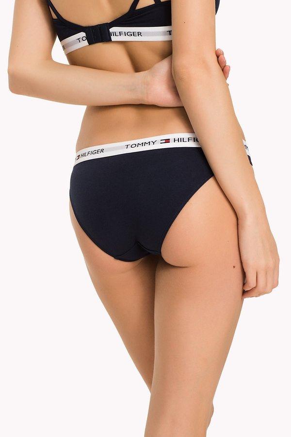 Kalhotky - Tommy Hilfiger tmavě modré kalhotky Bikini Iconic - XS